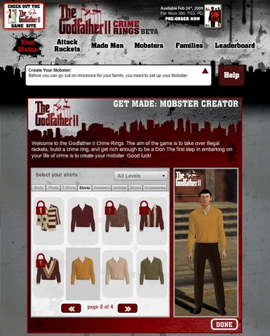 Godfather II Avatar Creator