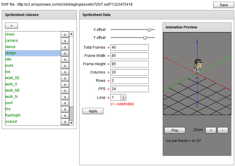 Isometric asset editor for Veer game