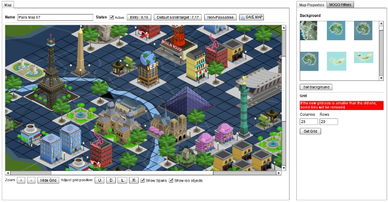 Isometric Map Editor for Veer game